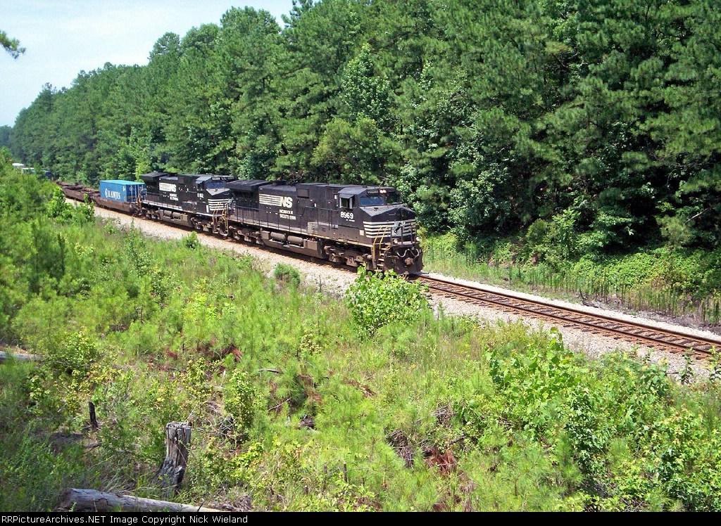 NS 8569 leads an intermodal